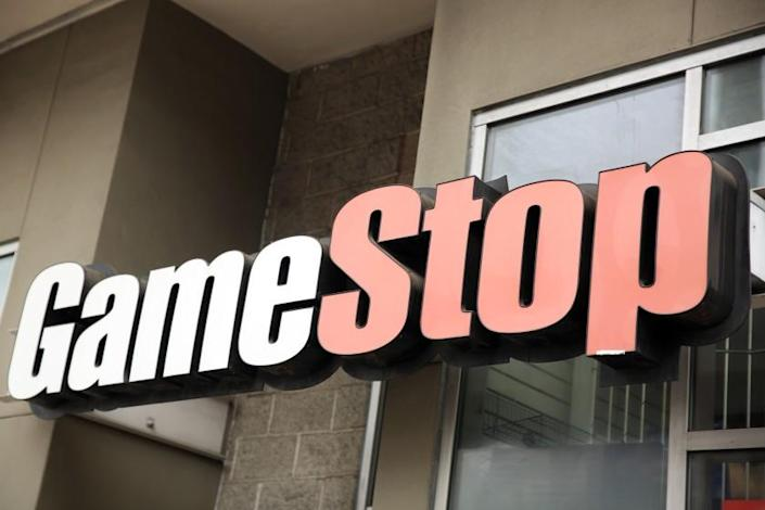 LOS ANGELES, CA - JANUARY 27: A GameStop at 5533 Sunset Blvd. is photographed in Hollywood on Wednesday, Jan. 27, 2021 in Los Angeles, CA. (Dania Maxwell / Los Angeles Times)