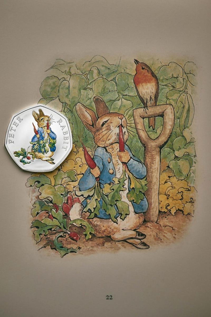 The new Peter Rabbit coin unveiled by the Royal Mint (Royal Mint)