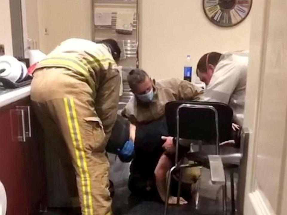 It took three firefighters to remove Cole from the dryer  (Lydia Dunwell)
