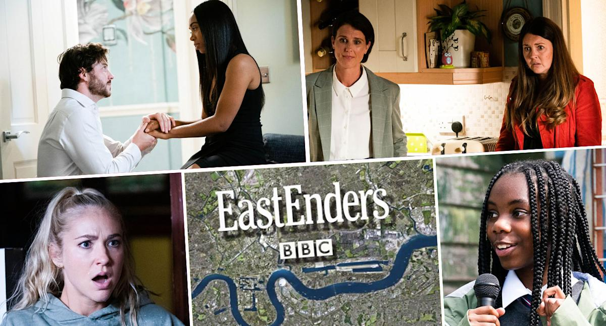 Next week on 'EastEnders': Corrie's Maria and Tracy guest star, plus Gray proposes to Chelsea (spoilers)