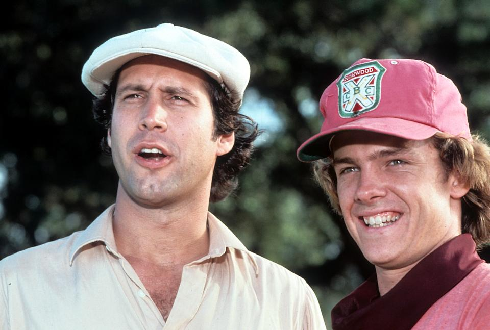 Chevy Chase in a scene from the film 'Caddyshack', 1980. (Photo by Orion Pictures/Getty Images)