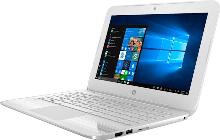 """If you prefer a Windows 10 PC over a Chromebook, perhaps look for an """"open box"""" model, such as this HP Stream from Best Buy ($176), so long as there's a good warranty with it."""