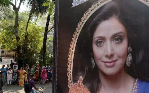 The much loved actress was mourned across India  - Credit: AFP