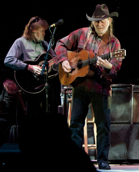 This March 4, 2008 file photo shows Jody Payne, left, and Willie Nelson performing at the Star of Texas Fair and Rodeo in Austin, Texas. Payne, who was Willie Nelson's guitar player for 35 years before he retired in 2008, has died Saturday Aug. 10, 2013. (AP Photo/Austin American-Statesman, Jay Janner)
