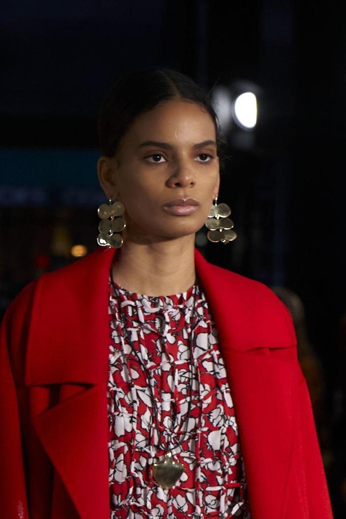 "<p>The Ponytail made its way onto the runway for numerous shows (see: Prabal Gurung below), but for the Jason Wu show the Freestyle Pony took center stage along with the current favorite middle part. TRESemme NYFW Stylist <a href=""https://www.instagram.com/lacyredway/?hl=en"" rel=""nofollow noopener"" target=""_blank"" data-ylk=""slk:Lacy Redway"" class=""link rapid-noclick-resp"">Lacy Redway</a> created bespoke looks for the models to enhance their hair saying, ""I wanted to bring out every girl's unique textures and integrate them into this look's finishings."" </p>"