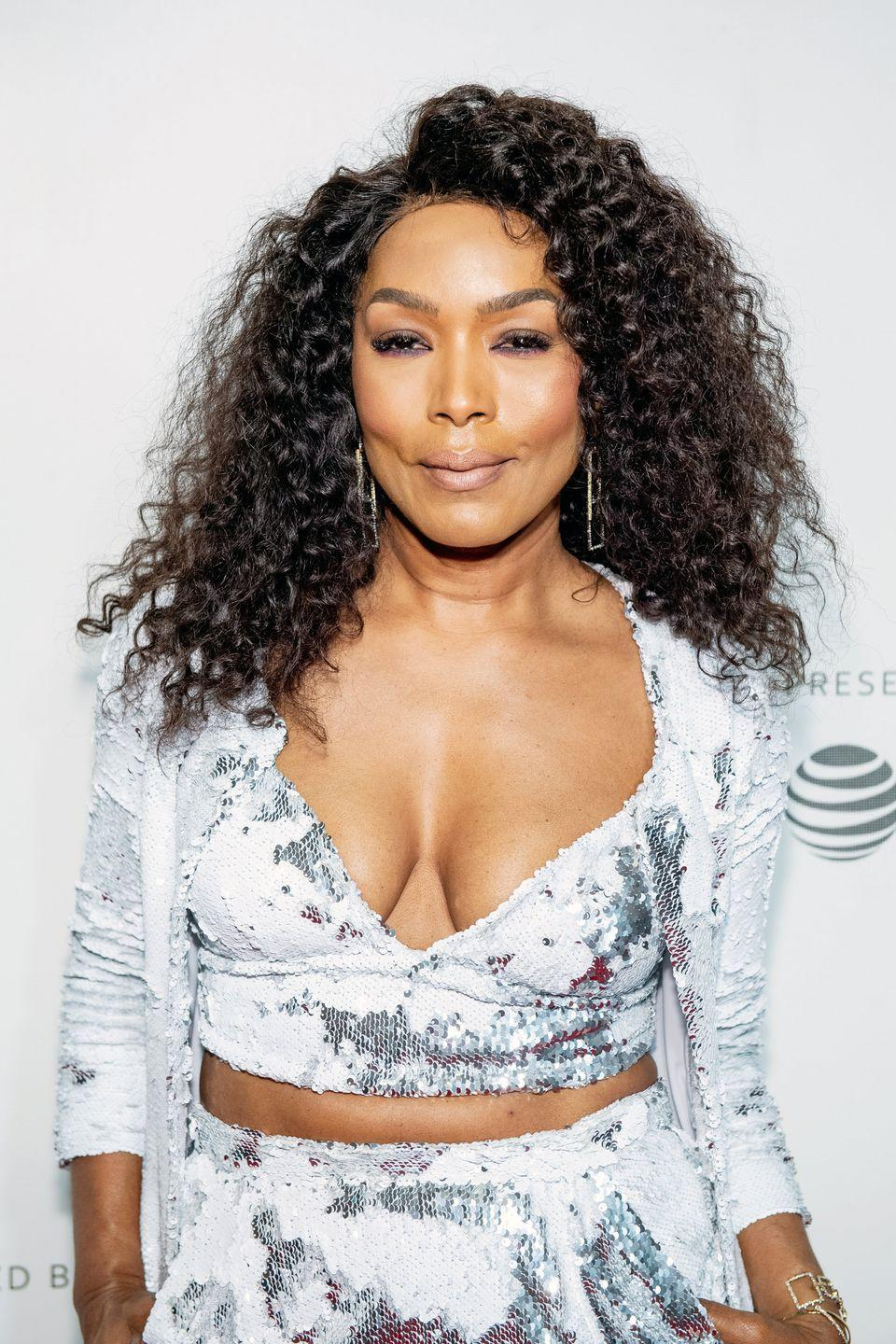 """<p>For hair like <strong>Angela Bassett</strong>'s, ask for a clear shine glaze or lowlights with a deep brown undertone. At home, try a """"gloss"""" treatment and add depth by painting on thin lowlights a shade darker than your base or look for a color like """"caramel"""" or """"chestnut."""" </p>"""