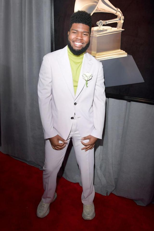 <p>Khalid attends the 60th Annual Grammy Awards at Madison Square Garden in New York on Jan. 28, 2018. (Photo: John Shearer/Getty Images) </p>