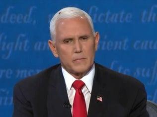 Mike Pence at the vice presidential debateABC