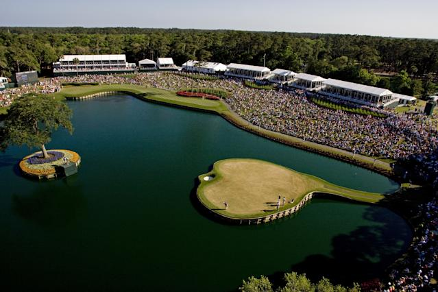 "<h1 class=""title"">PGA TOUR - THE PLAYERS Championship - Final Round</h1> <div class=""caption""> The 17th hole during the final round of THE PLAYERS Championship. </div> <cite class=""credit"">Chris Condon</cite>"