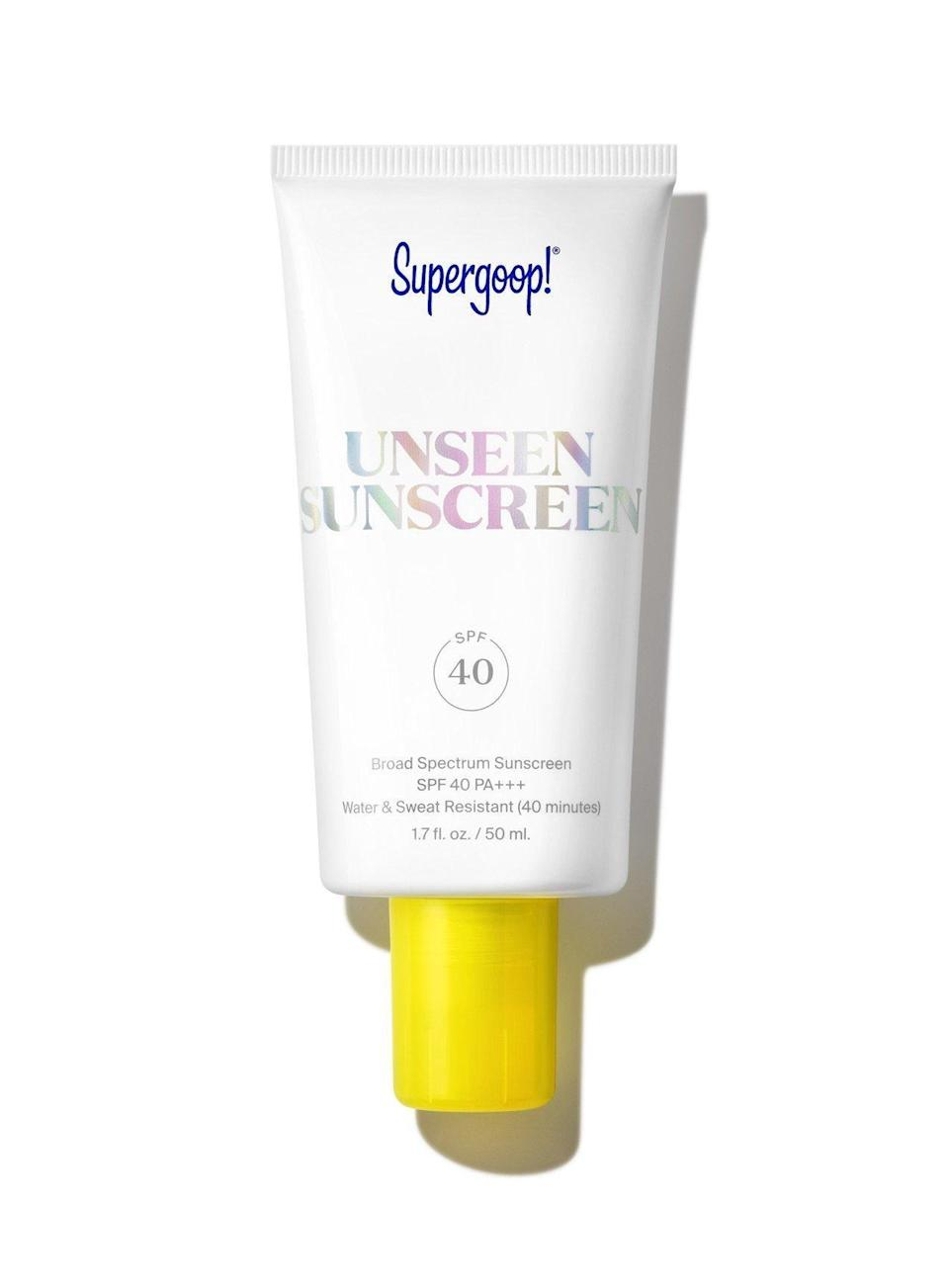 """<p><strong>Supergoop!</strong></p><p>sephora.com</p><p><strong>$34.00</strong></p><p><a href=""""https://fave.co/3x4Ypg9"""" rel=""""nofollow noopener"""" target=""""_blank"""" data-ylk=""""slk:SHOP NOW"""" class=""""link rapid-noclick-resp"""">SHOP NOW</a></p><p>Let's face it, your dad probably won't wear sunscreen unless it feels like nothing. This invisible SPF will trick his mind while protecting his skin.</p>"""