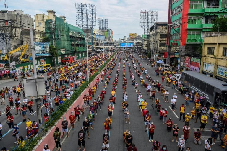 A centuries-old statue of Jesus believed to have miraculous healing powers is traditionally pulled through the packed streets of Manila but authorities cancelled the parade fearing it could turn into a super-spreader event