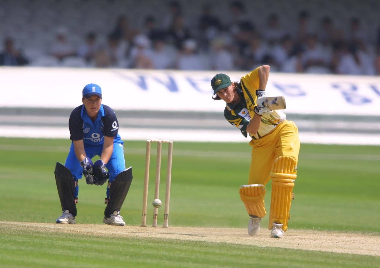 3 Jul 2001:  Belinda Clark in action for Australia during the women's Cricinfo one day international played between England and Australia at Lords Cricket Ground, London England. DIGITAL IMAGE