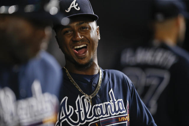 Braves second baseman Ozzie Albies is one of the ambassadors for MLB's Players Weekend. (AP)