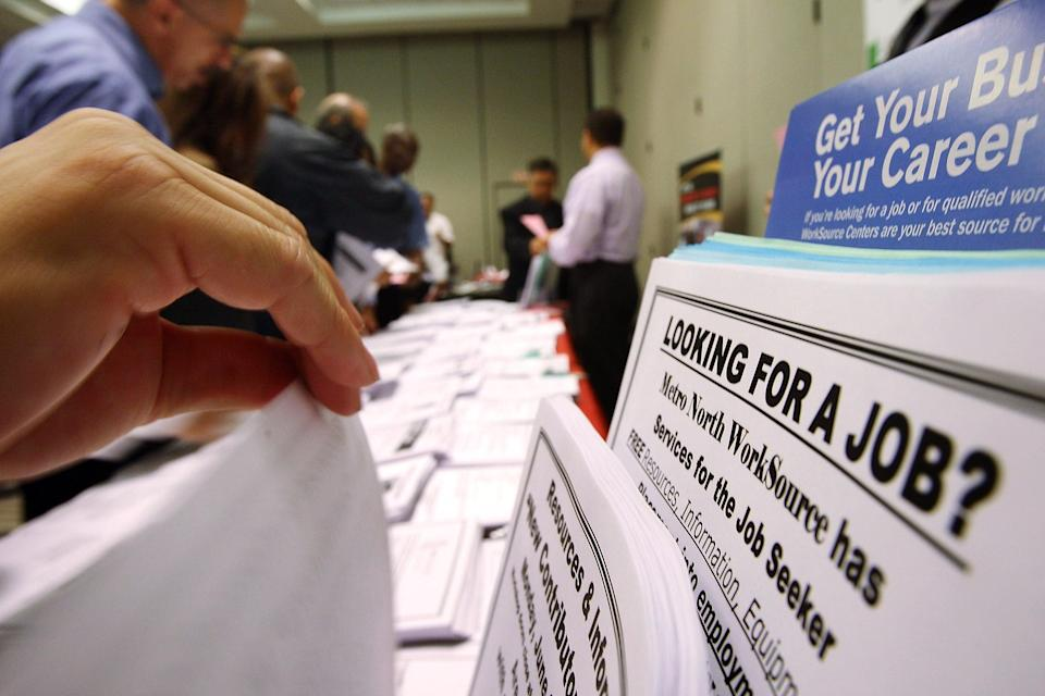 <p>The US economy recorded just 266,000 new jobs in April </p> (Getty Images)