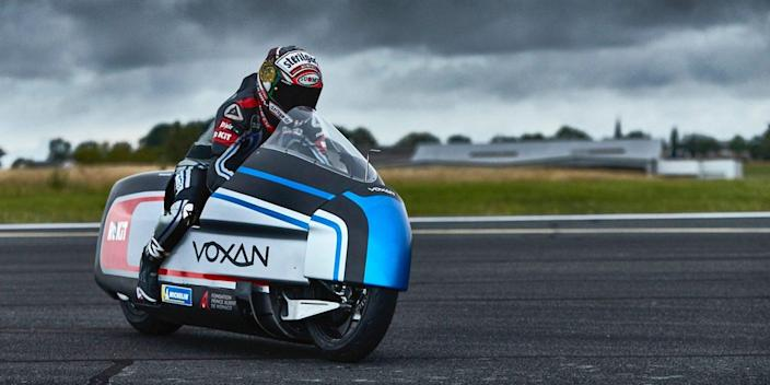 The new Voxan Wattman Dry Ice-Cooled Electric Motorcycle.