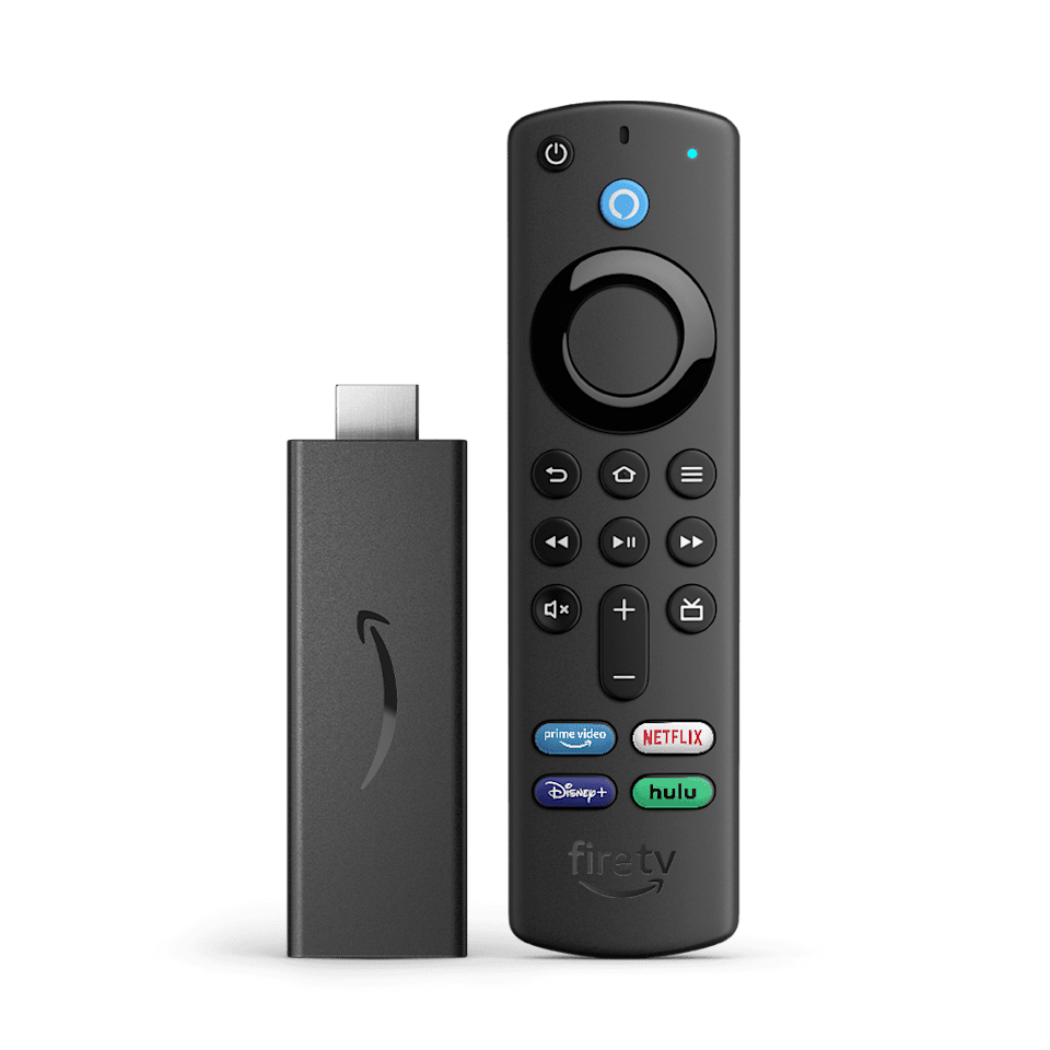 <p>The <span>Fire TV Stick with Alexa Voice Remote   HD streaming device</span> ($40) will house all your entertainment in one sleek device. It has thousands of channels, Alexa skills, and apps including Netflix, YouTube, Prime Video, Disney+, Apple TV, and HBO Max. </p>
