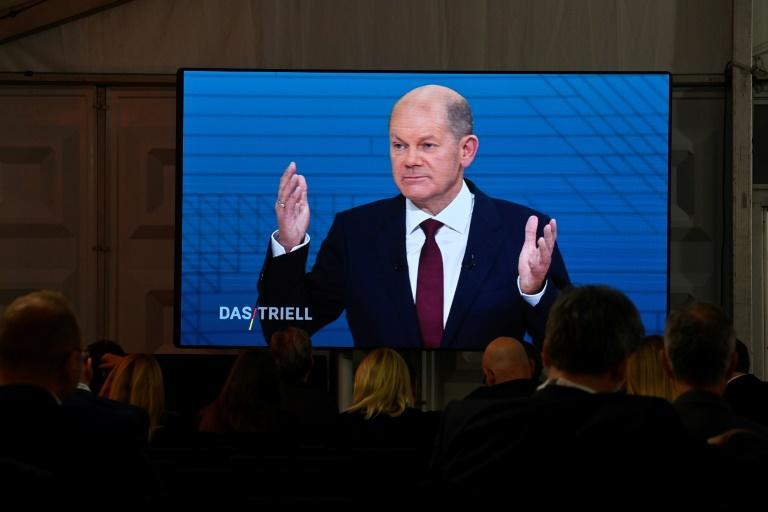 The SPD's leading candidate, Finance Minister Olaf Scholz, is in pole position to take Merkel's crown (AFP/John MACDOUGALL)