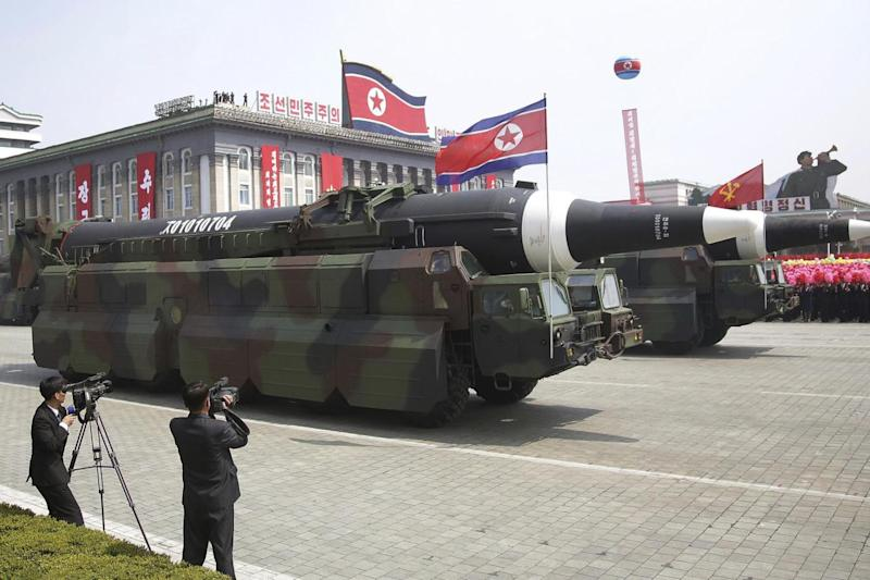 Concern: North Korea is believed to have carried out a failed missile test (AP)