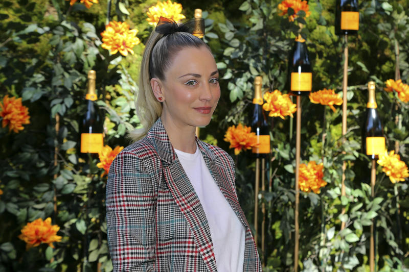 Kaley Cuoco attends the 10th Annual Veuve Clicquot Polo Classic at Will Rogers State Historic Park on Saturday, Oct. 5, 2019, in Los Angeles. (Photo by Willy Sanjuan/Invision/AP)