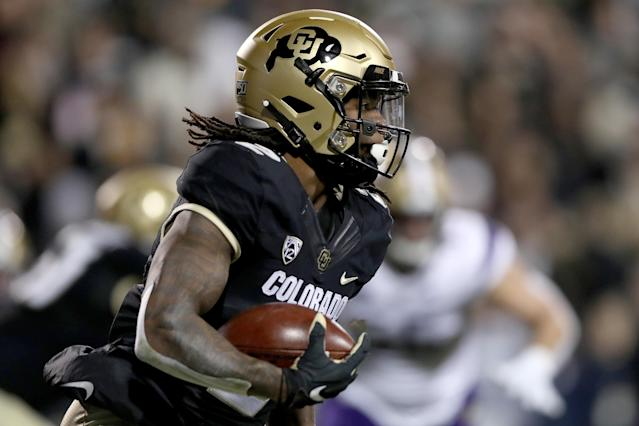 Colorado WR Laviska Shenault Jr. is a unique prospect, but his medical reports will be critical to his evaluation. (Photo by Matthew Stockman/Getty Images)
