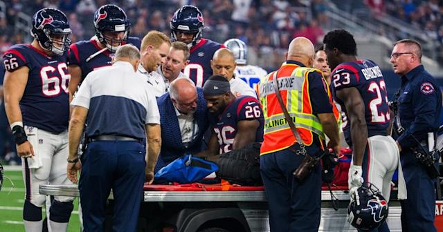 Cowboys-Texans sideline exclusive: A closer look at Lamar Miller's injury, and which call Jason Witten's still salty about