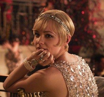 <p>Carey Mulligan wore a number of stunning art deco pieces in <em>The Great Gatsby</em>. However, this diadem headpiece, along with a matching pearl and diamond bracelet/hand-piece, tops the list as Daisy Buchanan's most noteworthy jewels. </p>