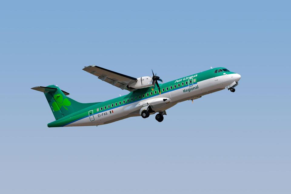 Now departed: Stobart Air plane in the colours of Aer Lingus Regional (Aer Lingus)