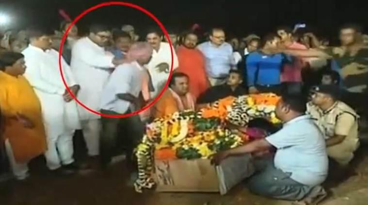 Cuttack BJD MLA manhandles man during last rites of CRPF jawan, apologises later