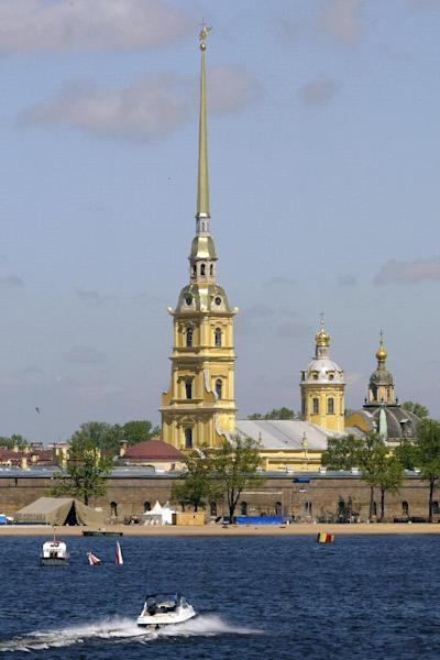 The Peter and Paul Cathedral in Saint Petersburg where Tsar Alexander III is buried was closed to visitors as the state commission examined the 121-year-old grave (AFP Photo/Maxim Marmur)