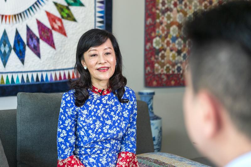 Prominent corporate lawyer Lee Suet Fern, 62, speaking to Yahoo News Singapore at her Tanglin apartment in September 2020. (PHOTO: Dhany Osman/Yahoo News Singapore)