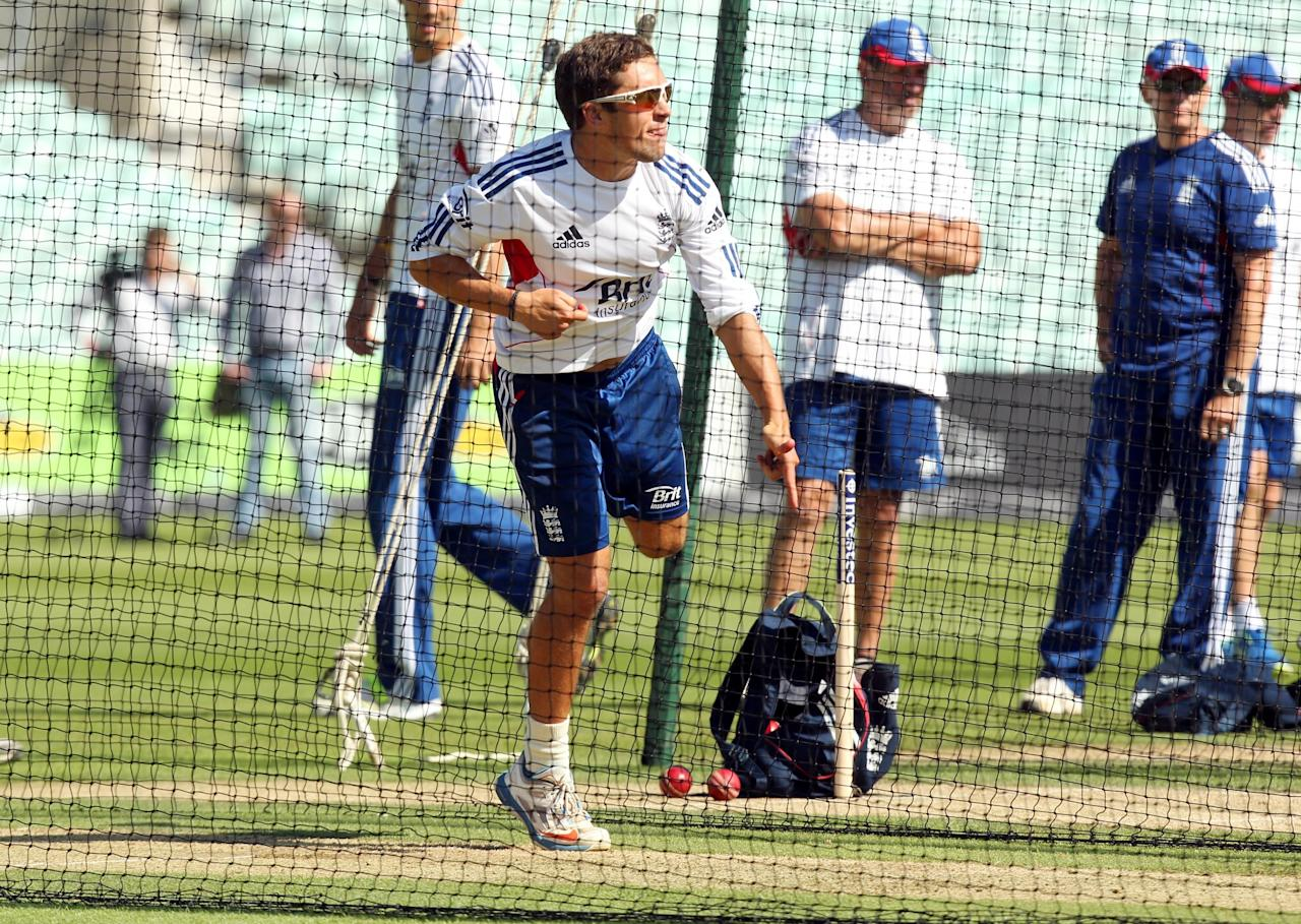 England's Simon Kerrigan during a nets session at The Kia Oval, London.