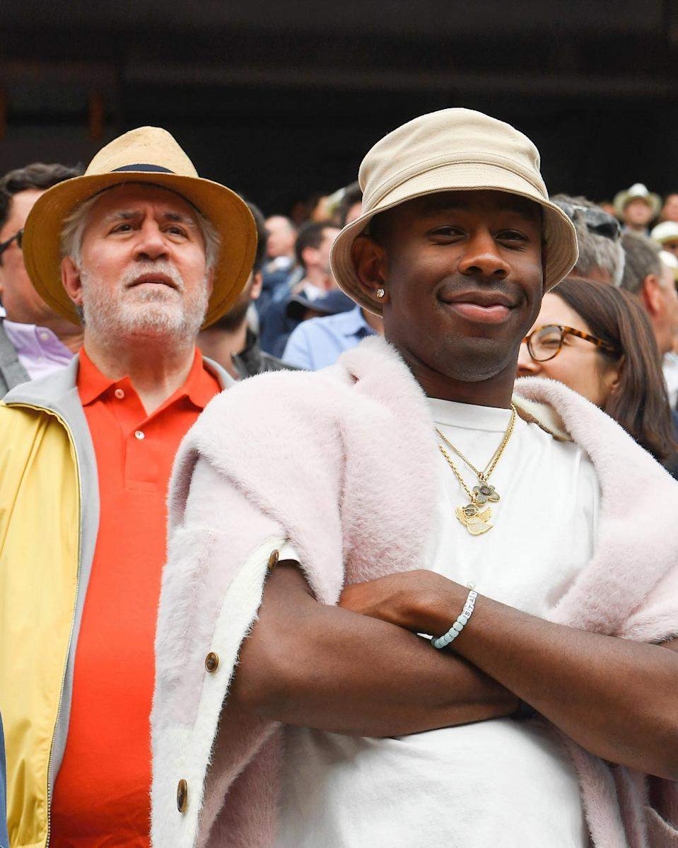 """<h1 class=""""title"""">June 10: Tyler, the Creator</h1> <div class=""""caption""""> Tyler, the Creator of Massive French Open Fits. </div> <cite class=""""credit"""">Getty Images</cite>"""