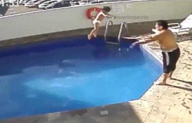 Man throws stepdaughter into swimming pool