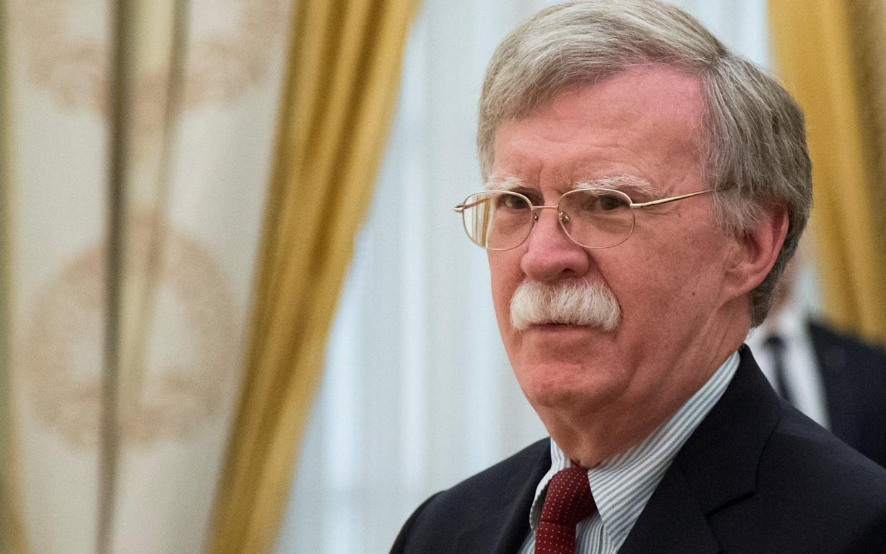 John Bolton, once George W Bush's UN ambassador, was appointed the White House national security adviser in March 2018 - REUTERS