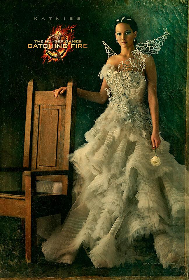 "Jennifer Lawrence as Katniss Everdeen in the final Capitol Portrait for ""The Hunger Games: Catching Fire"" - 2013"