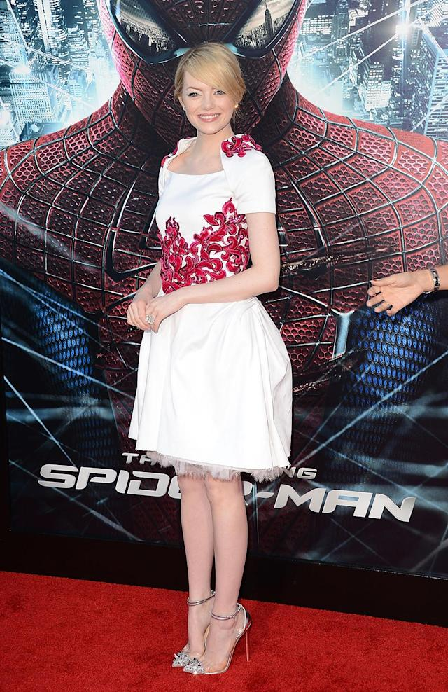 <p>After a string of hits, including<em> Easy A</em>, <em>The Help</em>, and <em>Crazy, Stupid, Love</em>, Stone was cast as love interest Gwen Stacy in <em>The Amazing Spider-Man</em>. (Photo: Jason Merritt/Getty Images) </p>