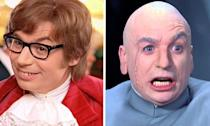 Mike Myers played both the titular hero Austin Powers and his nemesis Dr. Evil in the 1997 movie, but went onto play even more characters in the sequels including Fat Bastard and Goldmember.