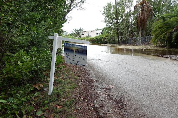 In parts of Key Largo, Florida, real estate concerns are starting to seep in as streets flood more regularly due to high tides (AFP Photo/Kerry Sheridan)