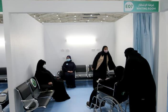 Saudi women are seen after received doses of a coronavirus disease (COVID-19) vaccine, in Riyadh