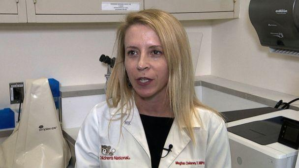 PHOTO: Chief of Pathology and Lab Medicine at Children's national hospital Meghan Delaney speaks with ABC News in an interview on March 19, 2020 (ABC News)