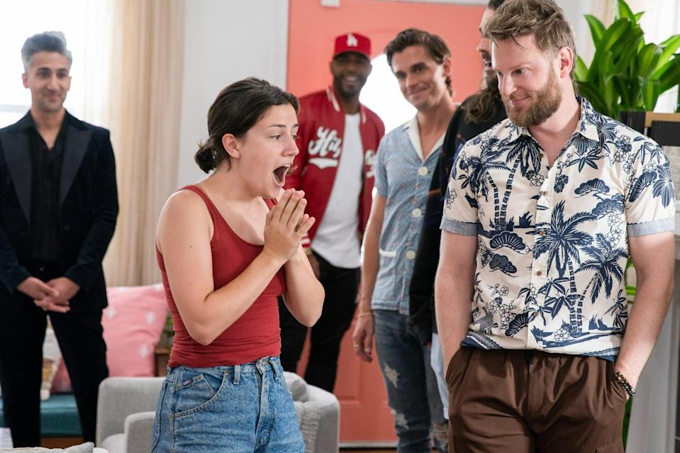 """<p>In this reality makeover show, five gay men known as the Fab Five help new """"heroes"""" turn around their lives, helping them improve their knowledge of fashion, food and wine, interior design, grooming, and culture.</p> <p>Watch<a href=""""http://www.netflix.com/title/80160037"""" class=""""link rapid-noclick-resp"""" rel=""""nofollow noopener"""" target=""""_blank"""" data-ylk=""""slk:Queer Eye""""><strong> Queer Eye</strong></a> on Netflix now.</p>"""