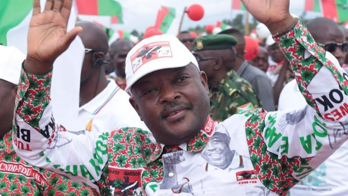 Pierre Nkurunziza was campaigning for his party's candidate in last month's presidential election