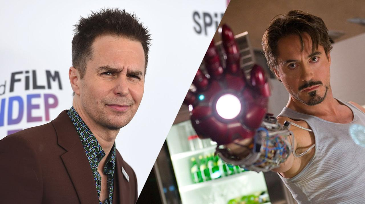 "<p>Could you imagine Iron Man having quite so much impact with Sam Rockwell in the title role? ""Sam was one of the actors I was looking at for Tony Stark,"" said director Jon Favreau while doing press for Iron Man 2. Rockwell was cast as Justin Hammer in the second Iron Man film instead. </p>"