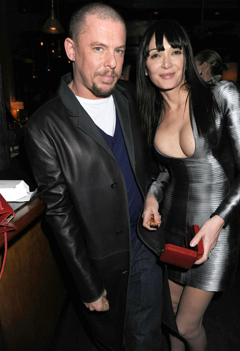 Annabelle Neilson with best friend Alexander McQueen (Rex Features)