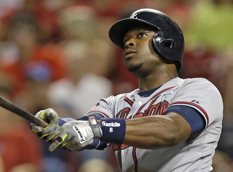Upton's HR sends Braves over Reds 3-1 in 12th