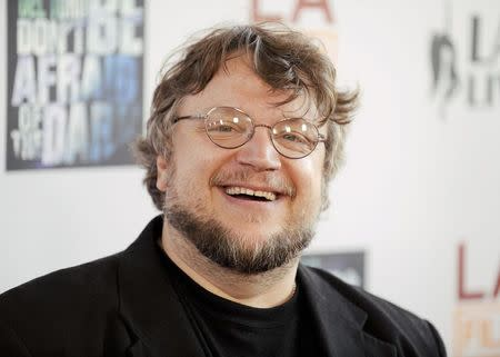 """Guillermo del Toro arrives at the """"Don't Be Afraid of the Dark"""" premiere during the Los Angeles Film Festival in Los Angeles"""