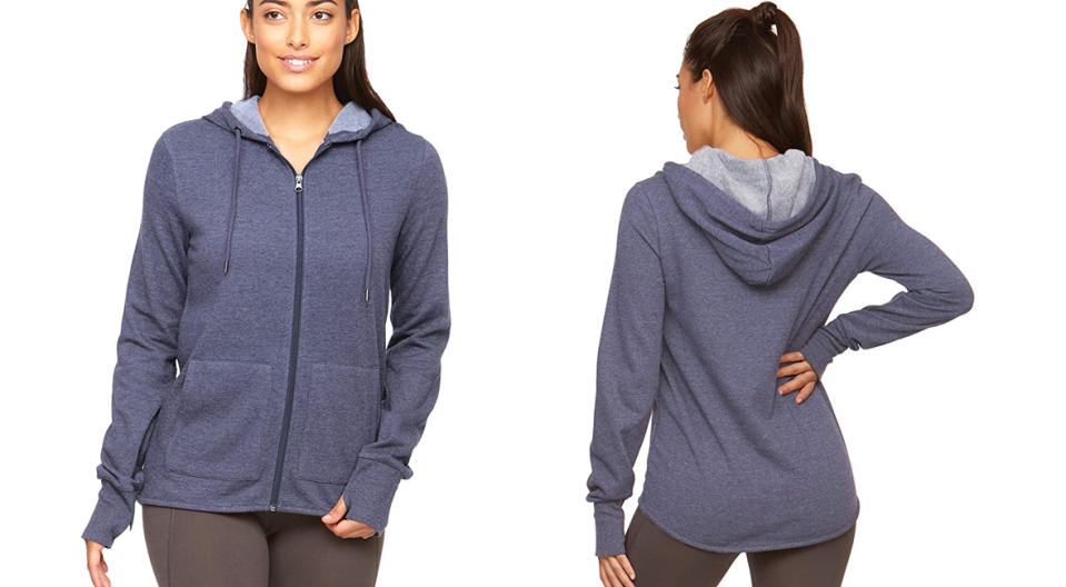 Colosseum Active Women's Serenity Dual Blend Cotton Polyester Full-Zip Hoodie (Photo: Amazon)