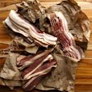 """<p><strong>bacon</strong></p><p>dartagnan.com</p><p><strong>$29.99</strong></p><p><a href=""""https://go.redirectingat.com?id=74968X1596630&url=https%3A%2F%2Fwww.dartagnan.com%2Fbacon-sampler%2Fproduct%2FKITBCN01-1.html&sref=https%3A%2F%2Fwww.townandcountrymag.com%2Fleisure%2Fdining%2Fg23937264%2Fgourmet-food-gifts%2F"""" rel=""""nofollow noopener"""" target=""""_blank"""" data-ylk=""""slk:Shop Now"""" class=""""link rapid-noclick-resp"""">Shop Now</a></p><p>You can never go wrong with bacon. Or, in this case, a bacon flight, featuring three different types of everybody's favorite salty treat: applewood and hickory smoked bacons made from heritage breed pork, and D'Artagnan's signature duck bacon.</p>"""