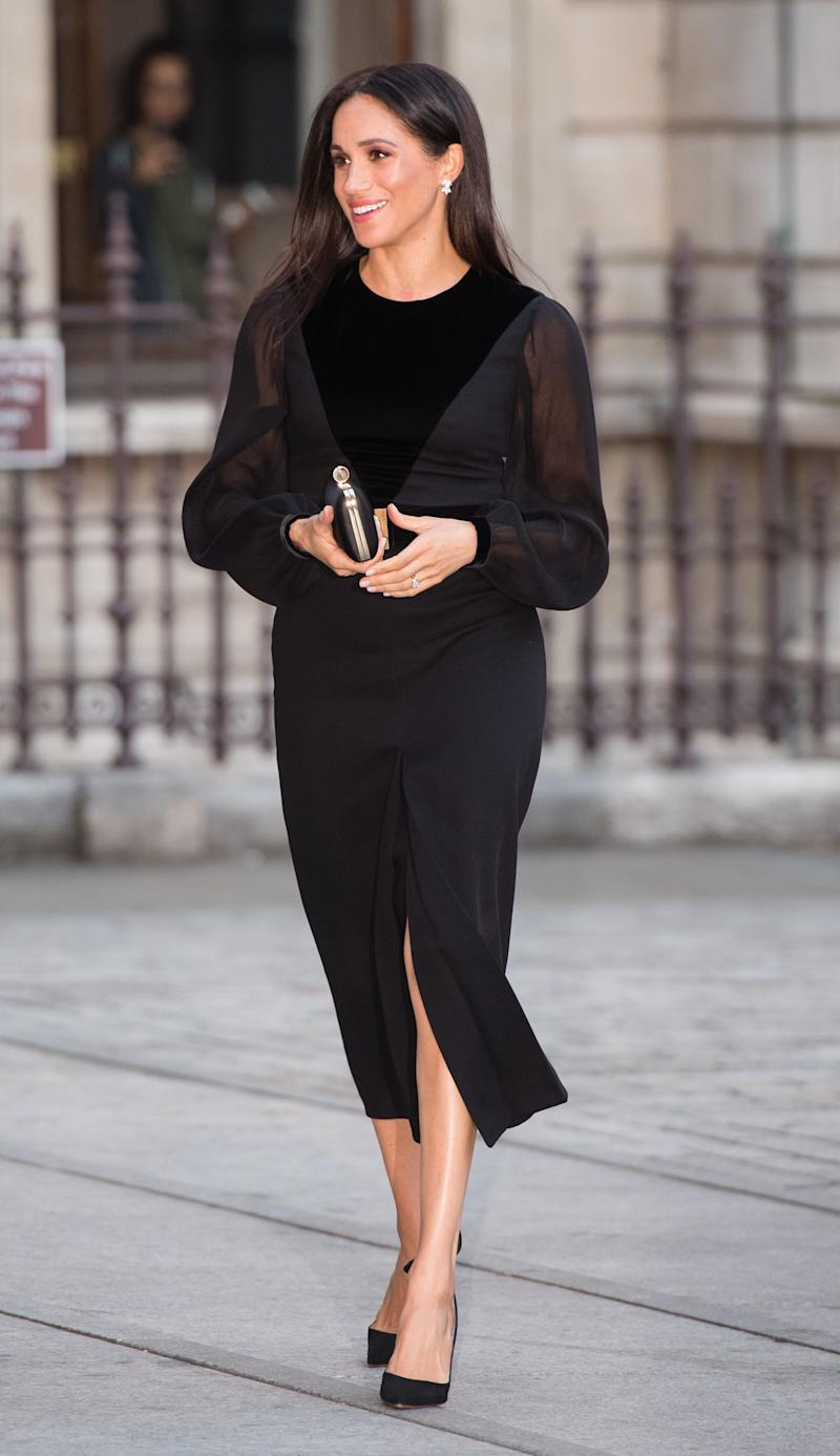 """Meghan, Duchess of Sussex, opens """"Oceania"""" at The Royal Academy of Arts on Sept. 25 in London."""