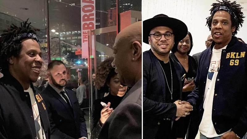 Jay-Z Goes On the Solo Hunt for Art, Seen Near Tamera Mowry's Twin Sister